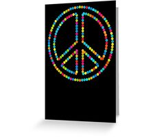 Colored Circles Peace Sign Symbol Greeting Card
