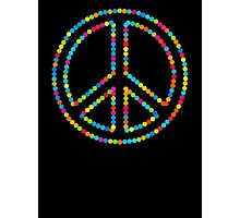 Colored Circles Peace Sign Symbol Photographic Print