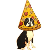Boston Terrier Pizza Dog by christinel