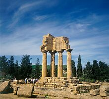 Italy Agrigento The Temple of Castor and Pollux in The Valley of The Temples by Luigi Petro