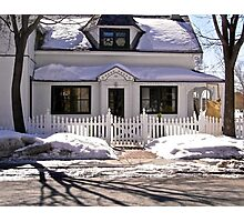 Most everyone's dream - a house with a picket fence! Photographic Print
