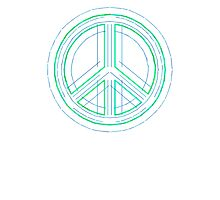 Peace Sign Symbol Abstract 1 Photographic Print