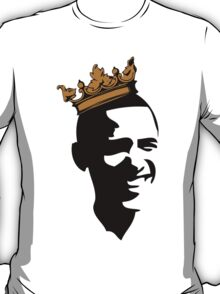 OBAMA CROWN**BLK & GOLD  T-Shirt