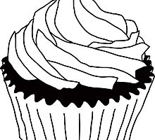 black and white cupcake by maydaze