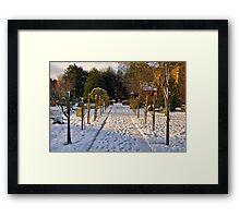 Snow Scene~ Framed Print