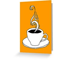 coffee scribble Greeting Card
