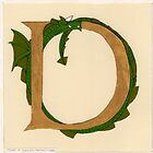"Oscar & the Roses ""D"" (Illuminated Alphabet Sold) by Donnahuntriss"