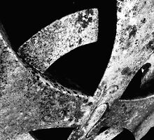 Cemetary Headstone Close-up Black&White by TLWhite