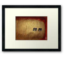 elephants march 2 Framed Print