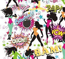 girl power sexy superhero comic women by BigMRanch