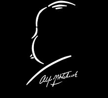 Alfred Hitchcock - White on Black by Kevitch