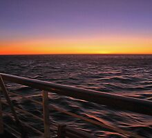 Sunset on the Cruise by Sue  Cullumber