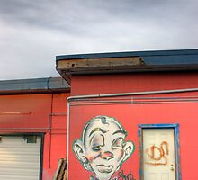 Clown Mural by Theo Harvey