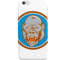Angry Gorilla Head Circle Cartoon iPhone Case/Skin