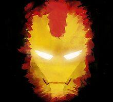 Face of Iron Man by paintninja
