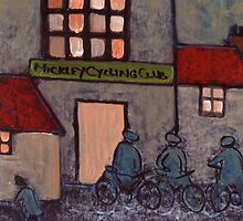 Mickley cycling club in circa 1914 by sword