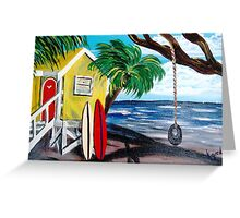 Yellow Beach Shack II Greeting Card