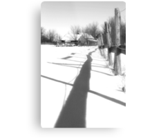 Shadow Me and We Will Get There Together Metal Print