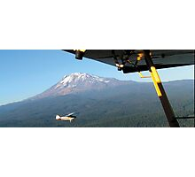 Flying over Mt Adams . . .  Photographic Print