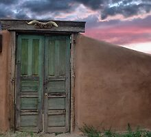 Adobe Wall with Green Door, Pena Blanca by TheBlindHog