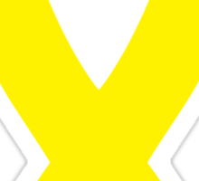 Yellow Awareness Ribbon Sticker