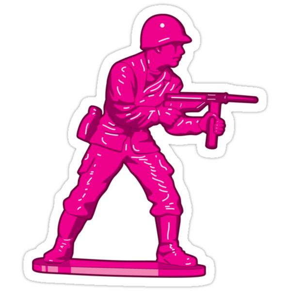 Toy Soldier [pink] by Vinko
