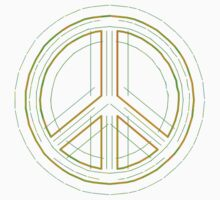 Peace Sign Symbol Abstract 2 by popculture