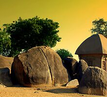 Rathas at Mahabalipuram by Dharmendra  Solanki