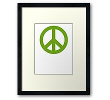 Green Peace Sign Symbol Framed Print