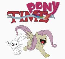 My Little Pony Adventure Time - Angel Bunny & Fluttershy by scheMeworks