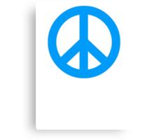 Blue Peace Sign Symbol Canvas Print