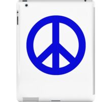 Dark Blue Peace Sign Symbol iPad Case/Skin