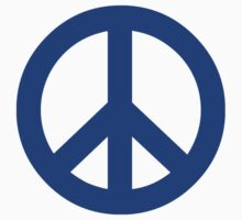 Dark Blue Peace Sign Symbol by popculture