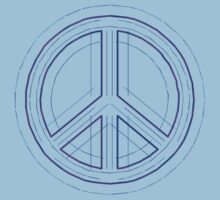 Peace Sign Symbol Abstract 4 by popculture