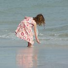 Little Girl on Beach by Karen Checca