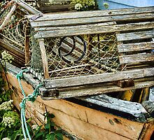 Lobster Pots and Fishing Boats by Amanda White
