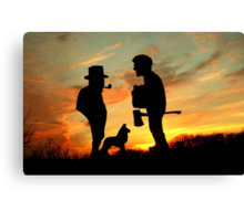 Old friends Converge at Dusk... Canvas Print
