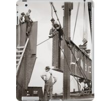 New York City Steelworkers, 1913 iPad Case/Skin