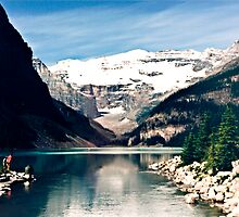 Lake Louise and Victoria Glacier by annesgallery