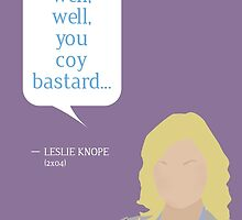 Leslie Knope Greeting Card by mmaccioli