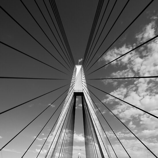 Anzac Bridge Symmetry by Alexander Kesselaar