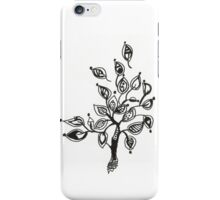 Tree With Leaves Drawing iPhone Case/Skin