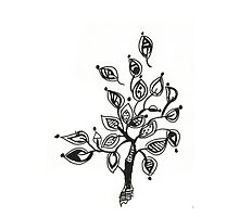 Tree With Leaves Drawing by Olesya-Christy