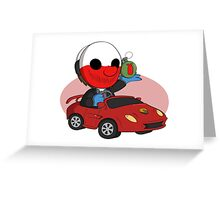 The Kart Shop Heist. Greeting Card