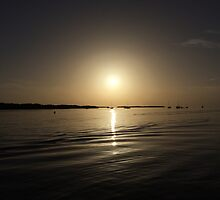 Sunset over lake (untouched) by Schep11