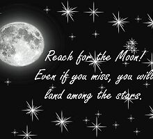 Reach for the Moon- Card by Lisa Jones Caldwell