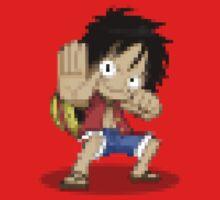 ONE PIECE: Pixel Luffy by TeemoTaylor
