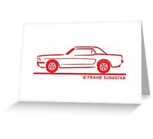 1964 65 66 Ford Mustang Hard Top Greeting Card