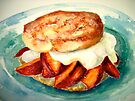 Delicious...Ginger Shortcake with Nectarines and Creme Fraiche by  Janis Zroback