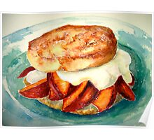 Delicious...Ginger Shortcake with Nectarines and Creme Fraiche Poster